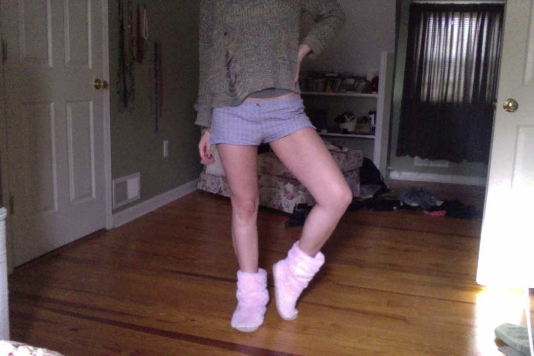 as every christmas, gettin' my jersey on with fuzzy pink ugg-ish slippers
