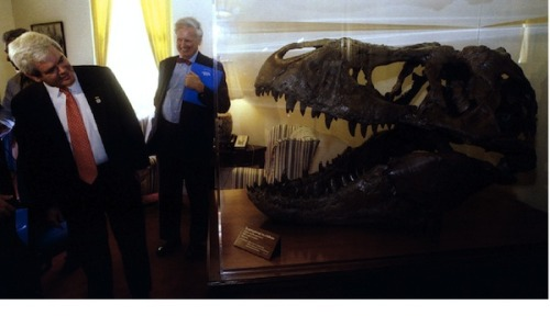 "Of course Newt Gingrich has an opinion on 3-d printers: ""This is one of these things we're fascinated with. If I can find a cheap one, I'm giving [nephew] Robert a 3-D printer for his birthday. The fact is that I think the F-35 has 800 parts that can be manufactured by 3-D manufacturing. 3-D printing is really beginning to be a really sophisticated thing. The question is: How do you think you're going to control it? I have a 3-D printer. I decide to make gun magazines. You tell me, gee, there's a federal law against that. You're going to fine me? They can't find the guys who are killing each other in Chicago, but you'll have to register your 3-D printer? I think we're right at the tipping point of a world that is amazingly different. We have almost no political conversation about it."""