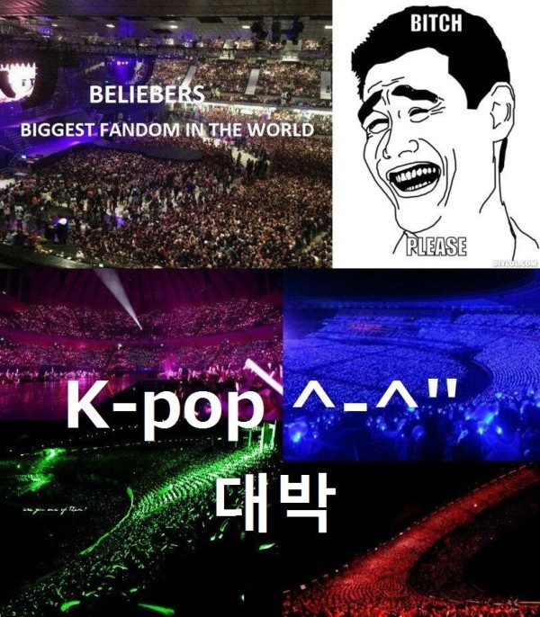 kpop-norway:  Pic not mine ^^  Um no. I still believe beliebers are the biggest.