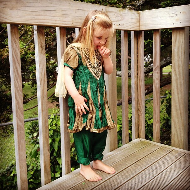 Sofia Grace in her new salwar kameez all the way from India. Namaste!