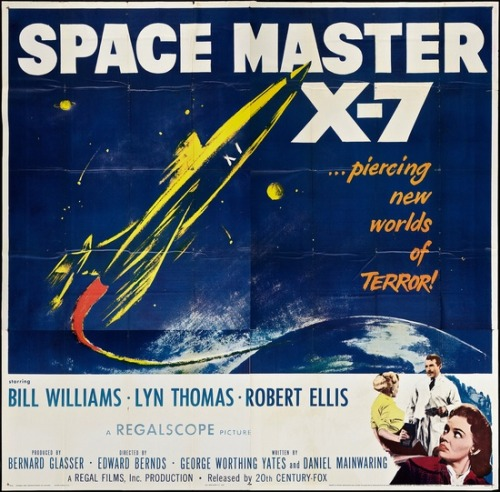 theniftyfifties:  'Space Master' - 1958 sci-fi film poster  €£€