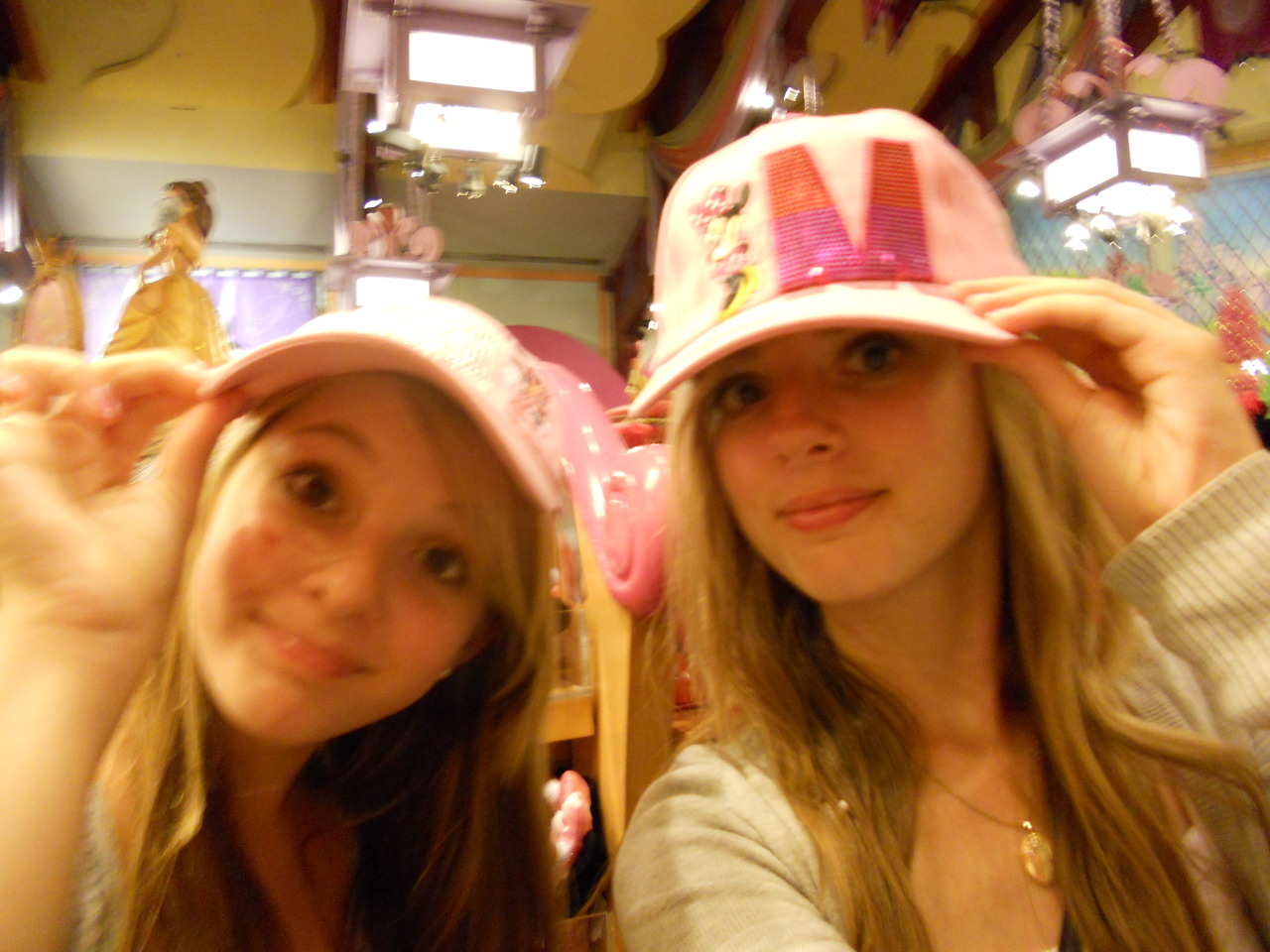 Us goofing around in the World of Disney store a few years ago :D
