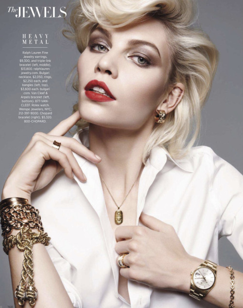 Harper's Bazaar, March 2013 (+) photographer: Amy Troost Aline Weber