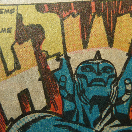 intrapanel:  Kirby/Steranko. Issue #4 of NICK FURY AND HIS AGENTS OF SHIELD (reprint series), 1973. Got yer primary colors here! Come 'n get 'em!