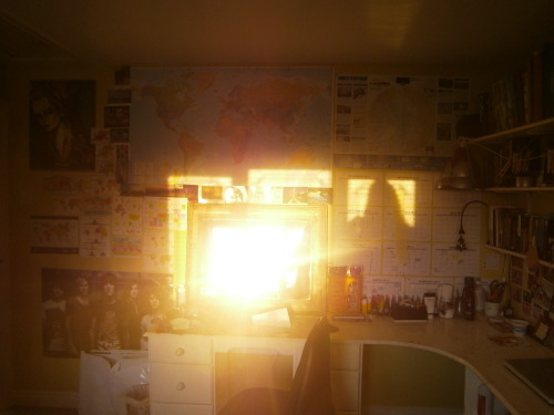 I took a picture of the sun in my bed room on the last day of march and I found myself feeling a fulfillment of gratitude towards the universe, towards life. Today as I upload this, I feel like that hope and that gratitude is displaced with a concrete and slowly setting structure of feeling lost and constantly isolated.  Last week was painful. It really was and I didn't do much about it like I normally do. I didn't keep going, I didn't move on, pretend the hole in my chest wasn't there. Last week I let it swamp everything  No work was achieved, no healthy life style was happening, no smiles even flinched on my face. I didn't speak, I didn't listen, I just though about life and it scared me how much I didn't care. It scares me how I question every corporeal response and ask why, why do we work, why do we learn, why do we study, why do we laugh, why do we sing, why do we love, why do we create, why do we survive. And as I sit in the stark light of mid-afternoon I still don't know and I'm scared this pain is set in stone. Finally, after 2 and a half years of knowing I am nothing, It has hit me. There is no way out. and again I'm scared about that. I'm so fucking scared.