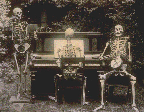 nevertrustamanwithamoustache:  Three skeletons at the piano by The National Archives UK on Flickr.