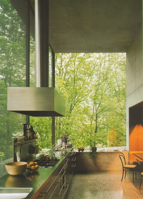 ppmj:  Peter Zumthor, his own private house's kitchen.
