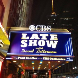 The Ed Sullivan theater!  (en The Late Show with David Letterman)