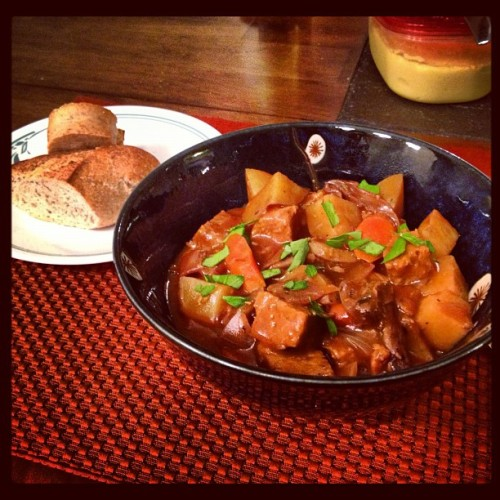 Sunday Dinner:  PPK Seitan Porcini Beef Stew.  New family favorite!  #vegan #ppk  #stew #whatveganseat #veganfoodshare #vegansofig