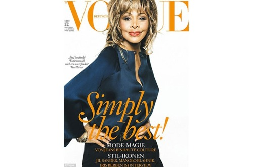 "nprfreshair:  Well it's about time: Tina Turner on the cover of German Vogue. This is the first time she has graced a Vogue cover. At 73, she is now the oldest person to have done so. Billboard:  Oh, and did we mention she is 73? The ""Private Dancer"" singer snatched the title for the eldest person to cover the fashion magazine from Meryl Streep who covered American Vogue last year at the age of 62."