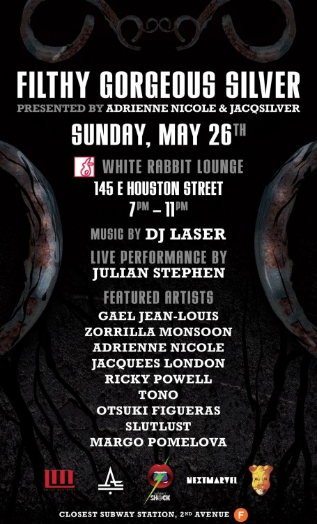 Join DJ Laser, Jacquees London & Friends on Sunday, May 26th at White Rabbit in The Lower East Side in New York City. The Art Event will exhibit artist like Gael Jean-Louis, Zorilla Monsoon, Adrienne Nicole, Ricky Powell & Jacquees London.