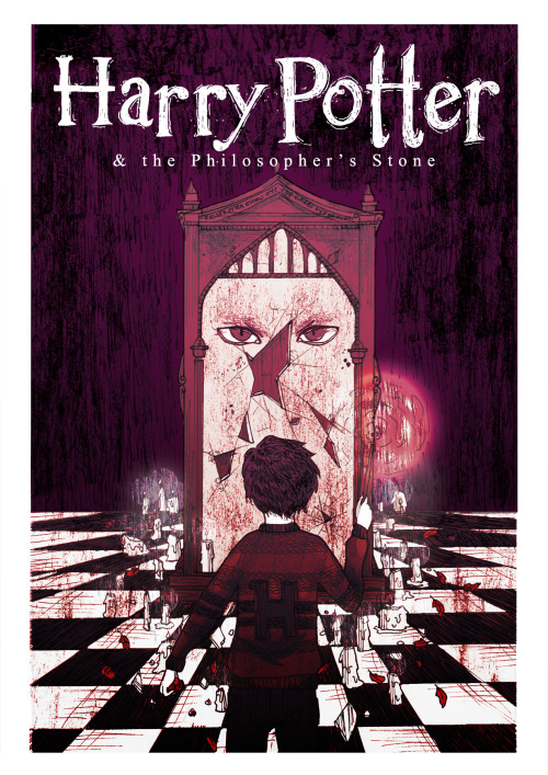 sisapuu:  A poster for the book Harry Potter and the Philosopher's Stone by J K Rowling. MicaM