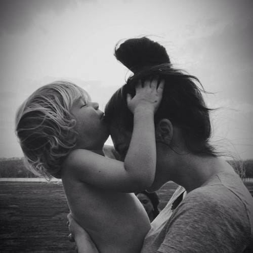 "awelltraveledwoman:  karrinainoregon:  Bekah and Little.  This picture makes my heart skip a beat because it captures the sweetest game little plays with me. He asks ""where's your fwavwet pwace for tiss?"" I always say forehead then he asks for second favorite etc and I end up getting little kisses all over my face and usually even the top of my head. I'm the luckiest."
