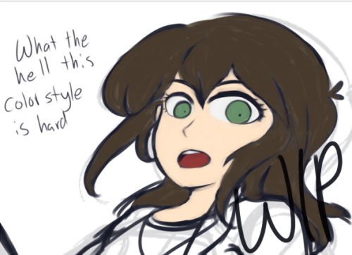 That moment of regret when you want to try a style you really like then realize its harder then you thought. Work in progress thingy.