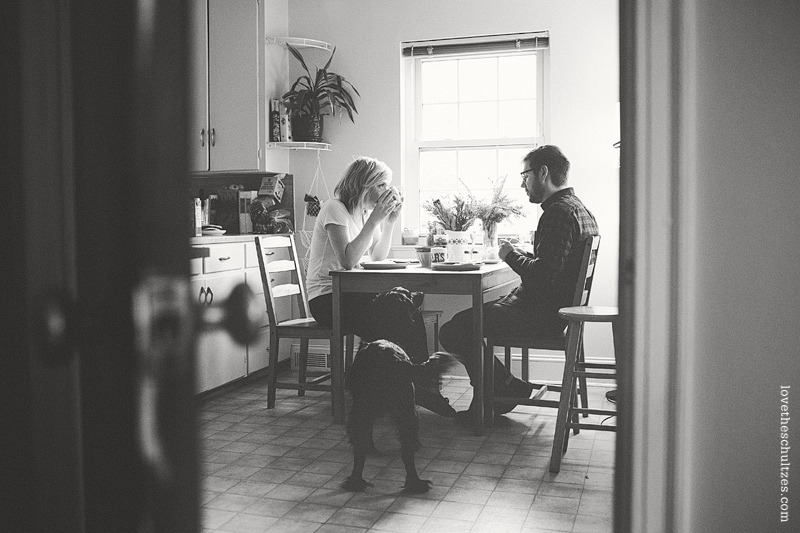brotherstories:  breakfast with you and the pup-