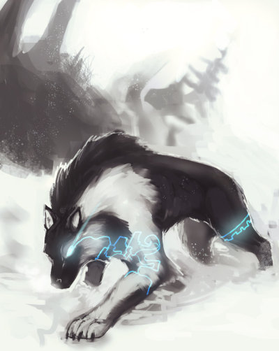 bittergeuse:  Art based on a concept art of Link's beast form. Also on deviantart.