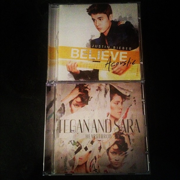 Justin Bieber - Picked up 2 new awesome albums by Canadians today @justinbieber @teganandsara