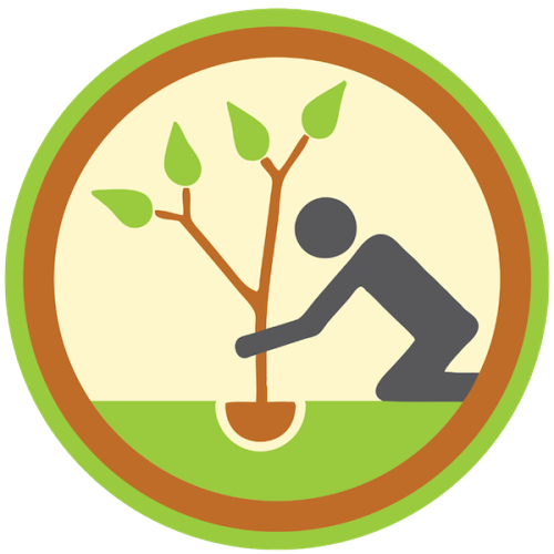 lifescouts:  Lifescouts: Tree-Planting Badge If you have this badge, reblog it and share your story! Look through the notes to read other people's stories. Click here to buy this badge physically (ships worldwide). Lifescouts is a badge-collecting community of people who share real-world experiences online.  When I was younger, I got a pine tree from school. It was really small. We took it to my grandparents house and planted mine next to the one my mom got when she was my age. I have grown up watching both trees grow. To me its been symbolic of us both growing together.