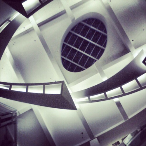 Walking under the Gandaria City's main atrium void #architecture #building #interior #shopping #mall #jakarta #indonesia