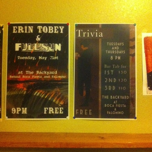 My posters at boca!  The trivia printed too dark :( !