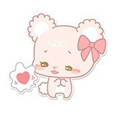 love pretty cute text kawaii Typography typo pink bear smile pastel soft fuzzy Bears hearts light pink heart eyes pale pink
