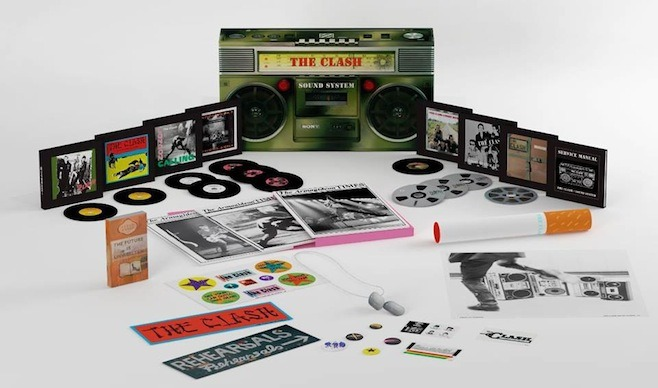 treblezine:  The Clash to release massive, boombox-shaped box set, Sound System