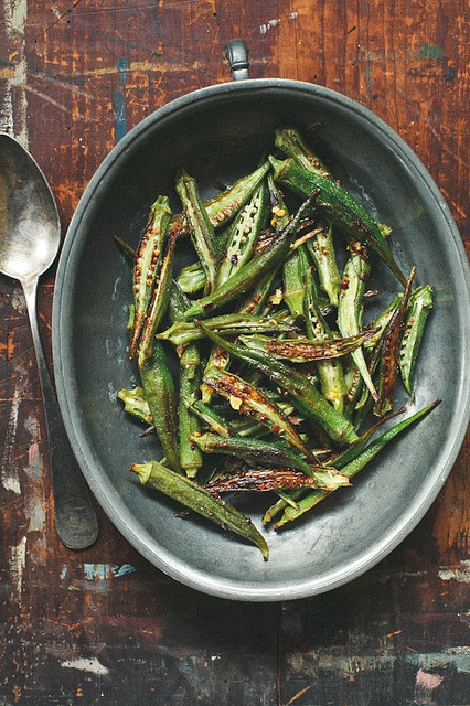 valscrapbook:  Roasted Okra by tartelette on Flickr.