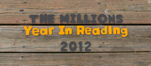 "My ""Year in Reading"" for The Millions went up yesterday! http://www.themillions.com/2012/12/a-year-in-reading-elizabeth-minkel.html [Basically one more chance to freak out about ""Pradeep Mathew,"" and to fangirl over Stephen Fry. Which I try to do as often as possible.] And while I'm here: please check out the Years in Reading of two old mentor-y figures of mine, Alex Chee and Paul Ford (the former was my professor; the latter was my boss). Both are super excellent (the posts as well as the people): http://www.themillions.com/2012/12/a-year-in-reading-alexander-chee.html http://www.themillions.com/2012/12/a-year-in-reading-paul-ford.html"