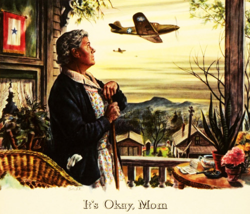 sgtwilkerson:  It's Okay, Mom - art by Ben Stahl, Bell Aircraft