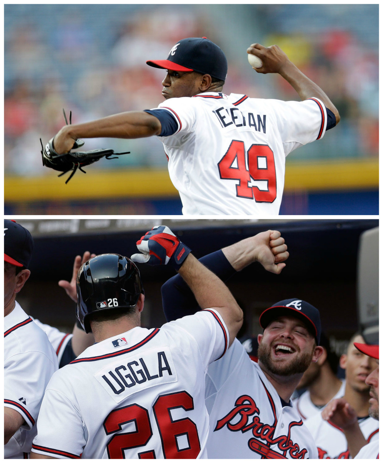 atlantabraves:  After a solid outing from Julio Teheran and a three-run homer from Dan Uggla, the Braves knock off the Twins 5-1 in Atlanta.