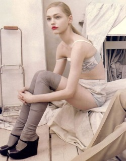 Sasha Pivovarova for Prada by Steven Meisel