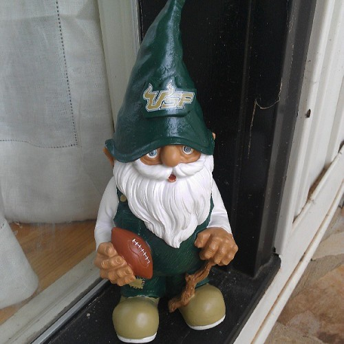 eyewillcrucioyew:  @kbombmoller bought this awesome gnome for the house! #USF