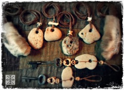 witchofforestgrove:  The Stone Age Collection of Talismans - The Witch of Forest Grove