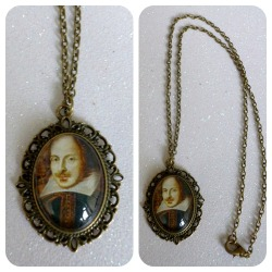 William Shakespeare Cameo Necklace https://www.etsy.com/shop/CalamityJayneDesigns