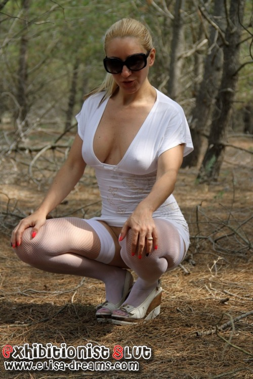 elisadreamsofficial:#Flashing  in the forest