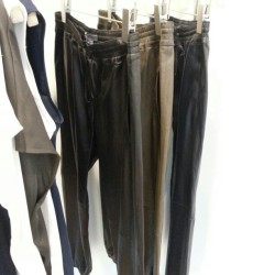 …and the leather track pant is back at @VinceSays. JM