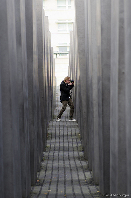Holocaustmahnmal - photo guy on Flickr.These are some photos from my three-day trip to Berlin to see Lights for the first time. This one was taken at the Holocaustmahnmal (Holocaust memorial).Check out my concert review and more photos! Link me:twitter | tumblr | YouTube
