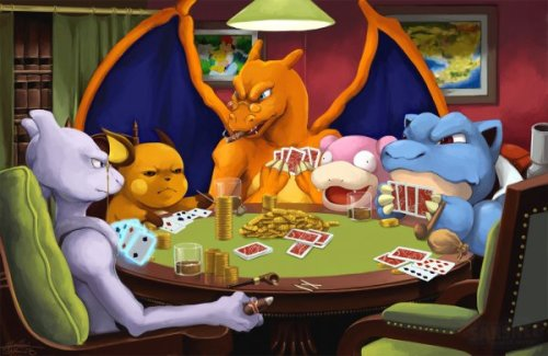 "Pokemon Poker Night Finally, your mom calling it ""Poker Mans"" makes sense."