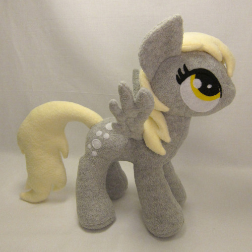 "Derpy Hooves plush! She is 12"" tall, made with no-pill fleece, polyester fiberfill stuffing, and felt applique eyes/cutie mark.  She is FOR SALE until May 01, 2013 00:49:09 PDT."