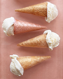 fun way to serve ice cream cones