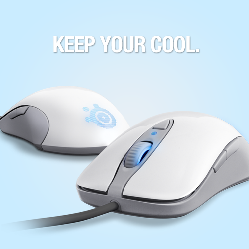 Keep your cool. http://steelseries.com/products/mice/steelseries-sensei-raw-frost-blue