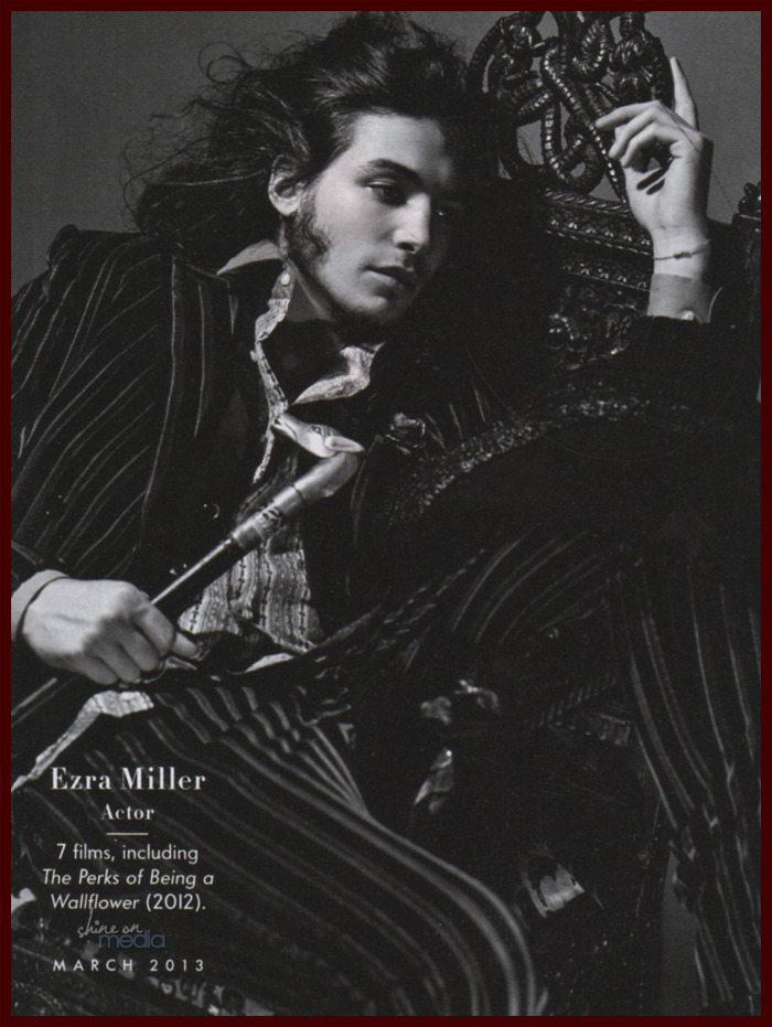 bohemea:  Ezra Miller - Vanity Fair by Bruce Weber, March 2013