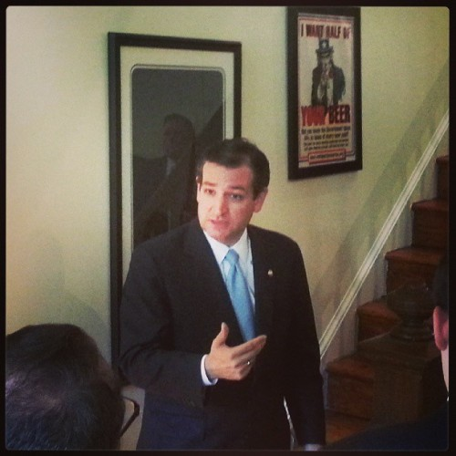Ted Cruz, not mincing words.
