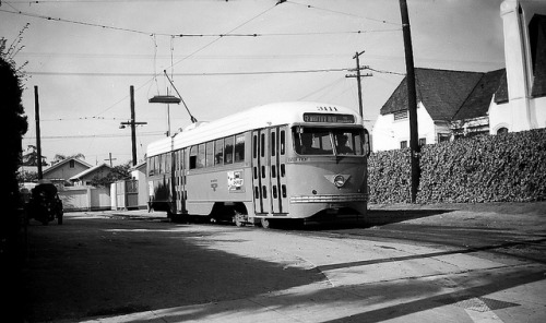 012 LATL 3111 R Line Larchmont & Melrose 19501010 AKW on Flickr. Photographer: Alan Weeks Los Angeles Transit Lines streetcar no.3111 on Line R at Larchmont and Melrose. October 10, 1950.