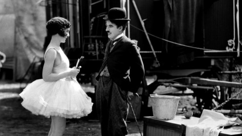 "iloveretro:  Charlie Chaplin and Merna Kennedy in ""The Circus"" (1928)"