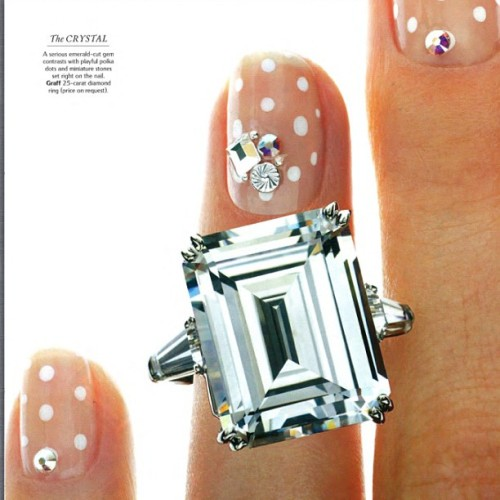 I am so proud to have worked with @TandCmag on their first ever nail art story! 💎💍 You can create easy polkadots on yourself using @illamasqua precision ink in scribe!