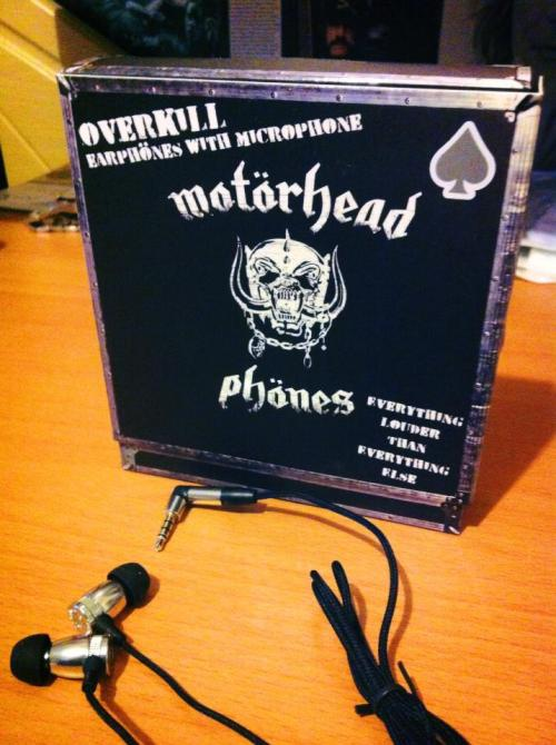 Got my Motörheadphönes yesterday. Everything louder than Everything else