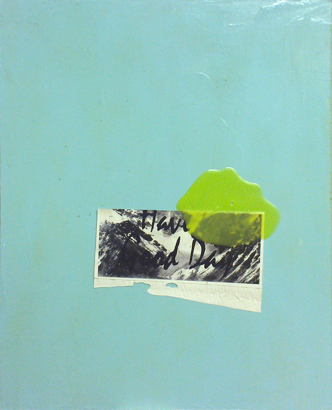 Slime Painting #1, Acrylic, enamel and dirt on board, 2013