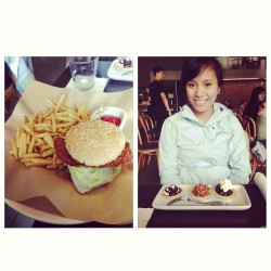 Trying to spend all my dining money so I bought this girl lunch hahaha. (at Cultivate)
