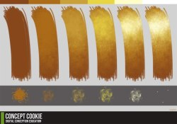 clockwork-dingos:  How to paint gold tutorial by *ConceptCookie And I found this very helpful just by looking at it. I was never good at coloring gold.